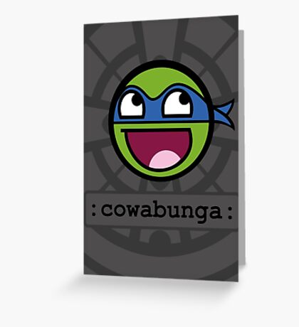 Cowabunga Buddy Squad: Leonardo Greeting Card