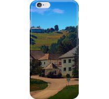 Small village in autumn scenery iPhone Case/Skin