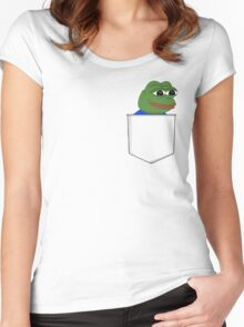Happy Pocket Pepe Women's Fitted Scoop T-Shirt