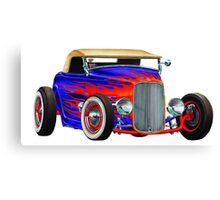 Flame Out Mutant Hot Rod Canvas Print