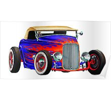 Flame Out Mutant Hot Rod Poster