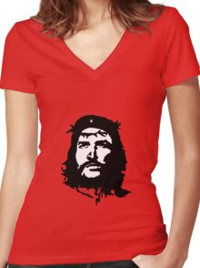 che jesus Women's Fitted V-Neck T-Shirt