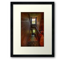 Upstairs , Downstairs - Craigmoor House c1875 - Hill End , NSW Framed Print