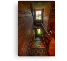 Upstairs , Downstairs - Craigmoor House c1875 - Hill End , NSW Canvas Print