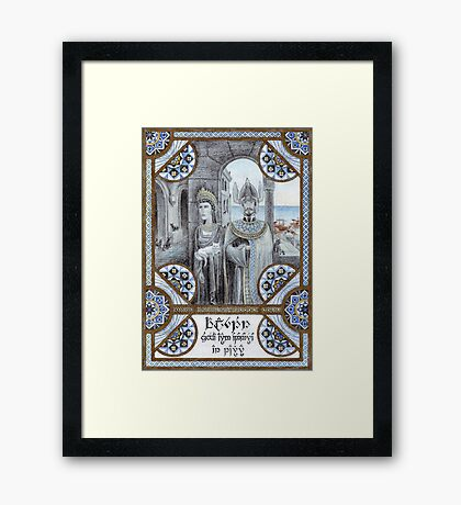King Tarannon Falastur of Gondor Framed Print