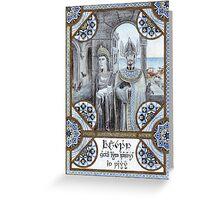 King Tarannon Falastur of Gondor Greeting Card