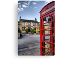 The Woolpack ~ Emmerdale Farm Country Canvas Print