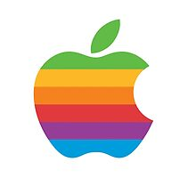 Rainbow Apple Logo - Louis Tomlinson by madeoflightingg
