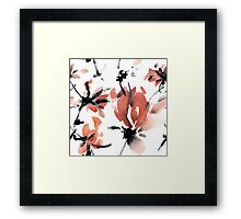Sakura flower pattern Framed Print