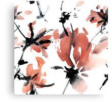 Sakura flower pattern Canvas Print