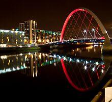 Squinty bridge in Glasgow, Scotland by Birgit Van den Broeck