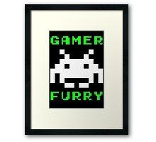 Gamer Furry Framed Print