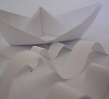 Paper Boat on a Stormy Sea by Dreamfolorn