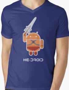 He-Droid Mens V-Neck T-Shirt