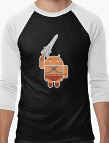 He-Droid (no text) Men's Baseball ¾ T-Shirt