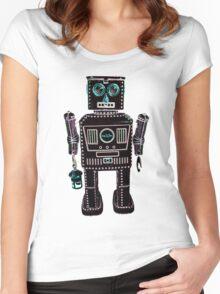 Lantern Robot 3 Women's Fitted Scoop T-Shirt