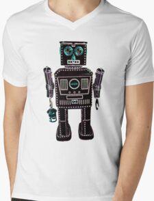 Lantern Robot 3 Mens V-Neck T-Shirt