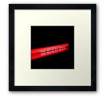 Red pencil Framed Print