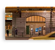 Flinders Street Station  Melbourne Victoria Canvas Print