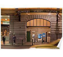 Flinders Street Station  Melbourne Victoria Poster