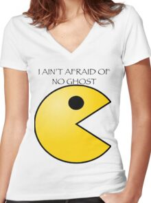 Ain't afraid of no ghost Women's Fitted V-Neck T-Shirt