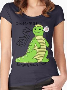 Dinosaurs Go Rawr! Women's Fitted Scoop T-Shirt