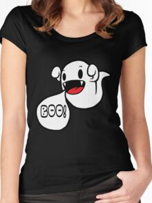 Boo! (Ghost) Women's Fitted Scoop T-Shirt