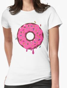 Giant Donut Womens Fitted T-Shirt