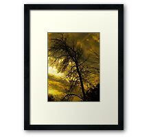 Sunset's Weight Framed Print