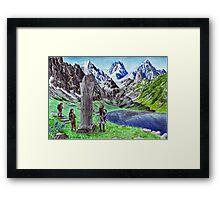 Durin's Stone Framed Print