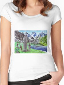 Durin's Stone Women's Fitted Scoop T-Shirt