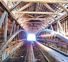 Inside Meems Bottom Covered Bridge by James Brotherton