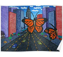 Butterflies in the City Poster
