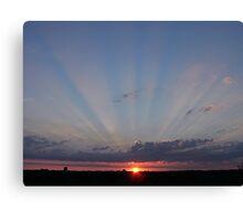 Sunset over Southampton, UK Canvas Print