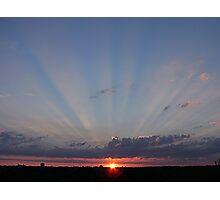 Sunset over Southampton, UK Photographic Print