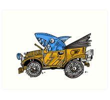 SHARK CAR - SHARKIE (2015) Art Print