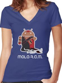 Mola-R.A.M. Women's Fitted V-Neck T-Shirt