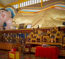 Reclining Buda - Penang by Colin  Ewington