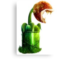 Mario Piranha Plant Canvas Print