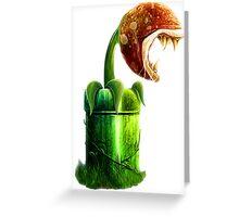 Mario Piranha Plant Greeting Card