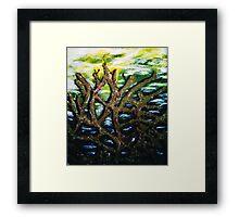 Ominous seaweed Framed Print