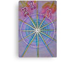 Mandala Art : Flutterby  Canvas Print