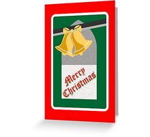 Christmas bells with wish Greeting Card