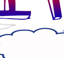 Owl City clouds Sticker