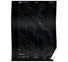 USGS Topo Map Oregon Elk Prairie 20110816 TM Inverted Poster