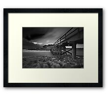 Clouded Bridge Framed Print