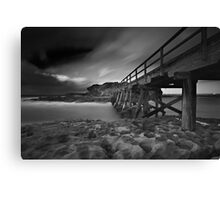 Clouded Bridge Canvas Print