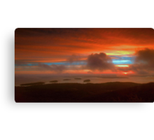 Sunrise From Cadillac Mountain 3 Canvas Print