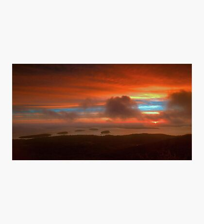 Sunrise From Cadillac Mountain 3 Photographic Print