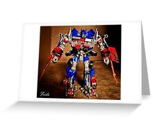Optimus Prime - Transformers Greeting Card